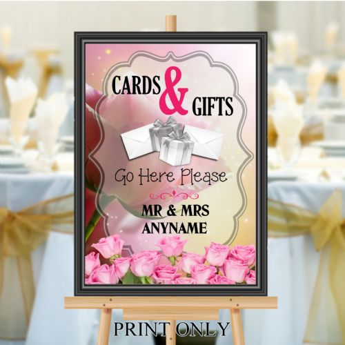 Personalised Wedding Cards & Gifts Sign Poster Banner - Print N197